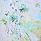 подарок на 8 марта большая весенняя легкая красивая нежная воздушная голубая картина маслом на холсте с подрамником маткина пермь купить картину заказать картину декоратор интерьера декор интерьера го