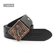 Аксессуары handmade. Livemaster - original item Wolf with a copper coating on the black strap. Handmade.