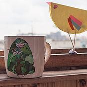 """Посуда ручной работы. Ярмарка Мастеров - ручная работа Керамическая кружка """"Весна"""". Handmade."""