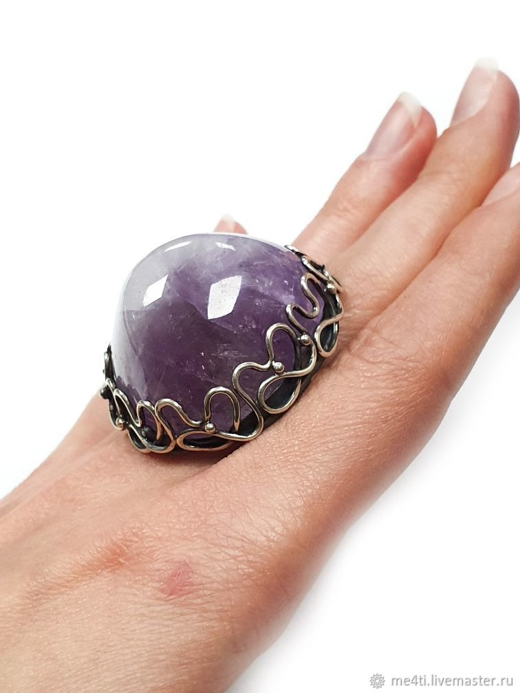"""Ring """"Amethyst Mountain"""" sterling silver, natural amethyst, Rings, Moscow,  Фото №1"""