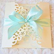 """Свадебный салон ручной работы. Ярмарка Мастеров - ручная работа Приглашение на свадьбу """"Tiffany"""". Handmade."""