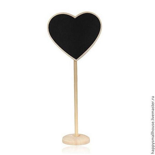Рассадочные карточки ручной работы. Ярмарка Мастеров - ручная работа. Купить Грифельная табличка в виде сердечка на подставке. Handmade.