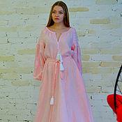 Одежда ручной работы. Ярмарка Мастеров - ручная работа Платье нежно-розовое  в пол. Handmade.