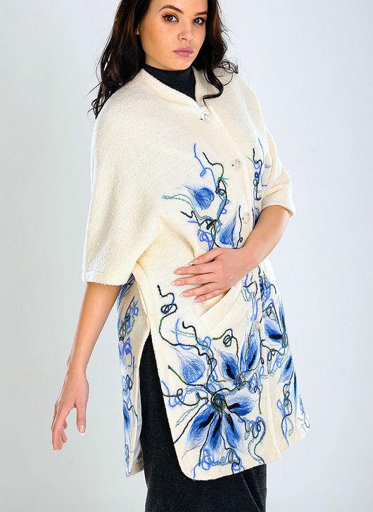 Верхняя одежда ручной работы. Ярмарка Мастеров - ручная работа. Купить ППЖ 11. Handmade. Цветочный, модное пальто