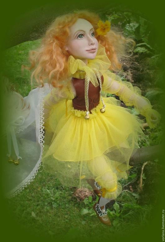 Коллекционные куклы ручной работы. Ярмарка Мастеров - ручная работа. Купить кукла авторская из пластика Осенний   ангел. Handmade. Рыжий