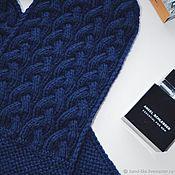 Аксессуары handmade. Livemaster - original item Knitted men`s scarf with braids. Handmade.