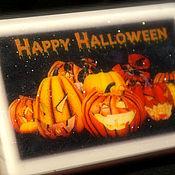 Подарки к праздникам ручной работы. Ярмарка Мастеров - ручная работа Светящееся мыло Хеллоуин Тыквы (в коробочке) Happy Halloween!. Handmade.