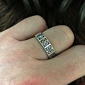 Русский стиль handmade. Livemaster - original item Ring with Slavic charms, free shipping. Handmade.