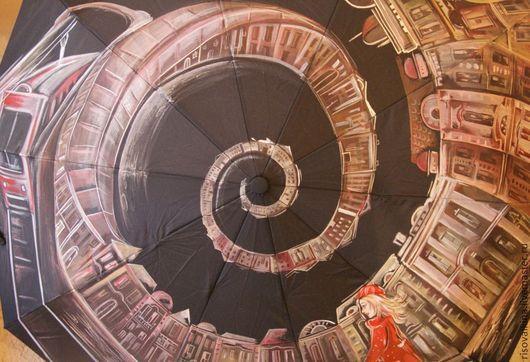"""Зонты ручной работы. Ярмарка Мастеров - ручная работа. Купить Зонт """"Лабиринты"""". Handmade. Рисунок, подарок, акрил"""