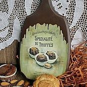 """Для дома и интерьера ручной работы. Ярмарка Мастеров - ручная работа доска """"Truffes"""". Handmade."""