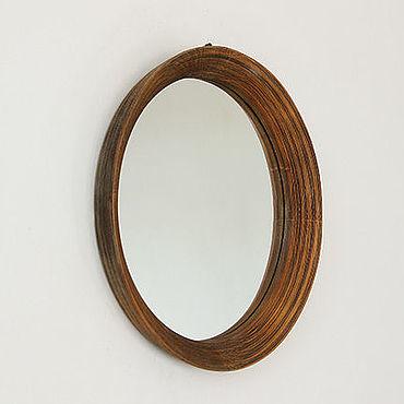 Для дома и интерьера ручной работы. Ярмарка Мастеров - ручная работа Круглое деревянное зеркало Baggins small , круглое зеркало в ванную. Handmade.