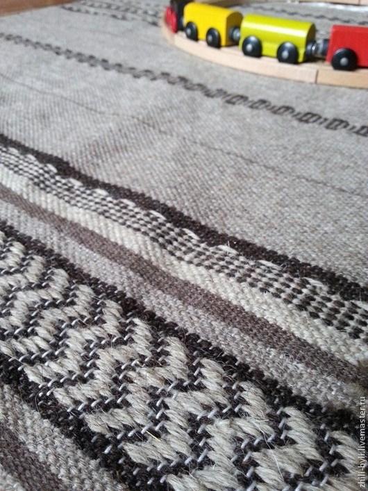 Текстиль, ковры ручной работы. Ярмарка Мастеров - ручная работа. Купить Домотканый половик шерстяной.. Handmade. Коричневый, шерсть