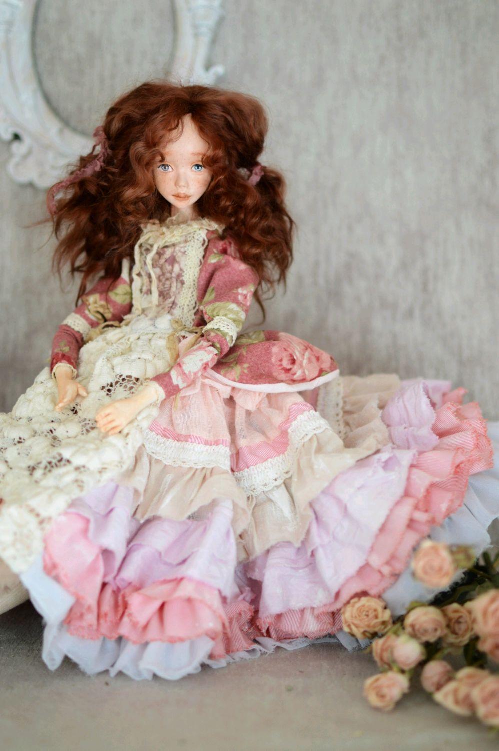 Аврора. Коллекционная будуарная кукла, Будуарная кукла, Екатеринбург,  Фото №1