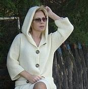 """Одежда ручной работы. Ярмарка Мастеров - ручная работа Авторское пальто вязаное """"Любимое""""-2 с капюшоном. Handmade."""