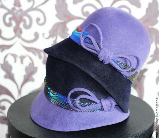 Шляпы ручной работы. Ярмарка Мастеров - ручная работа. Купить Детские шляпки-клош. Handmade. Фиолетовый, шляпка женская, вискоза