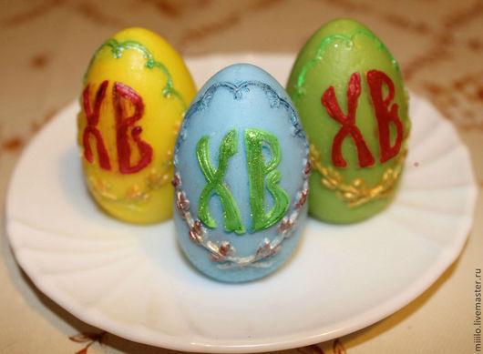 Мыло ручной работы. Ярмарка Мастеров - ручная работа. Купить мыло Пасхальные яйца. Handmade. Разноцветный, пасхальный подарок