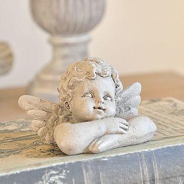 Для дома и интерьера ручной работы. Ярмарка Мастеров - ручная работа Милый ангел мини, настольная статуэтка из бетона винтажный стиль. Handmade.