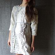 Одежда ручной работы. Ярмарка Мастеров - ручная работа Войлочное платье с рукавом Серебро. Handmade.