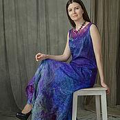 """Одежда ручной работы. Ярмарка Мастеров - ручная работа Платье """"Северное сияние"""" (нуно-войлок) вечернее. Handmade."""