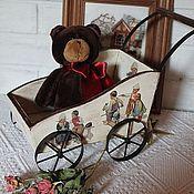 Куклы и игрушки ручной работы. Ярмарка Мастеров - ручная работа Коляска для игрушек - ретро. Handmade.