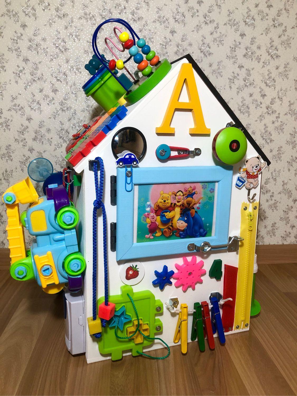 Бизиборд дом для детей от 8 месяцев, Бизиборды, Сургут,  Фото №1