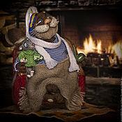 Куклы и игрушки ручной работы. Ярмарка Мастеров - ручная работа Старый капитан дядюшка Лео и его друг Мышонок..... Handmade.