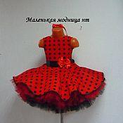 Одежда handmade. Livemaster - original item Retro red polka dot prom dress. Handmade.