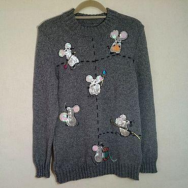 """Одежда ручной работы. Ярмарка Мастеров - ручная работа Пуловеры: """"Тише мыши..."""". Handmade."""