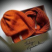 """Работы для детей, ручной работы. Ярмарка Мастеров - ручная работа Комплект """"TerraCotta"""" шапка колпак (чулок, носок, бини), снуд. Handmade."""