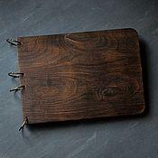 Канцелярские товары handmade. Livemaster - original item Notepad brushed wooden covers. Handmade.