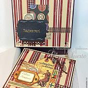 Открытки ручной работы. Ярмарка Мастеров - ручная работа Открытка на День Рождения мужчине в коробочке. Handmade.