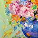 Картины цветов ручной работы. Картина маслом на холсте. Букет с оранжевыми лилиями.. ~~~Живопись~~~ Валери Меценатовой. Ярмарка Мастеров. Цветы