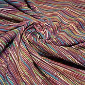 Материалы для творчества ручной работы. Ярмарка Мастеров - ручная работа Рогожка  костюмная ткань CHANEL оранжево-лиловая. Handmade.