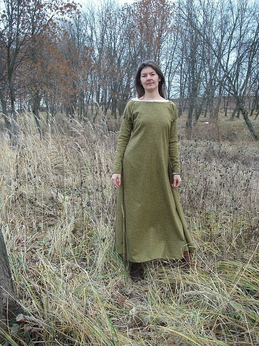 """Платья ручной работы. Ярмарка Мастеров - ручная работа. Купить Платье """"Поздняя осень"""". Handmade. Длинное платье, однотонный, шерсть"""