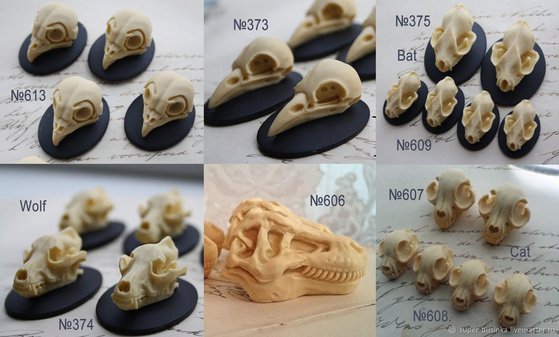 Молд череп животного 373, 374, 375, 606, 607, 608, 613, Глина, Москва,  Фото №1