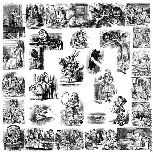 """Текстиль, ковры ручной работы. Ярмарка Мастеров - ручная работа. Купить Плед """"Алиса в Стране чудес"""". Handmade. Комбинированный"""