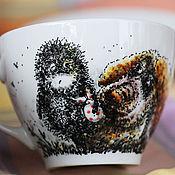 Посуда ручной работы. Ярмарка Мастеров - ручная работа Ежик в тумане (кружка). Handmade.