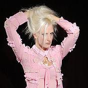 Одежда ручной работы. Ярмарка Мастеров - ручная работа Кофта шитая из шифона Розовые кружева с золотом. Handmade.