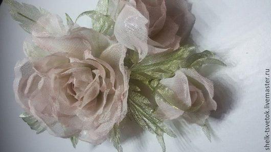 """Цветы ручной работы. Ярмарка Мастеров - ручная работа. Купить Шелковая роза """"Зимняя вишня"""". Handmade. Розовый, бутоны роз"""
