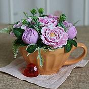 Подарки на 8 марта ручной работы. Ярмарка Мастеров - ручная работа Букет из мыла в керамической чаше №1. Handmade.