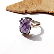 Украшения handmade. Livemaster - original item The ring is Magic Amethyst 18 R-R. Handmade.