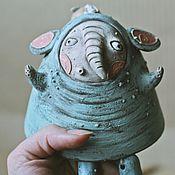 Статуэтки ручной работы. Ярмарка Мастеров - ручная работа Колокольчик «Мистер Слон». Handmade.
