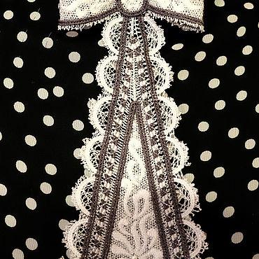 Accessories handmade. Livemaster - original item Machine embroidery tie design, FSL lace. Handmade.