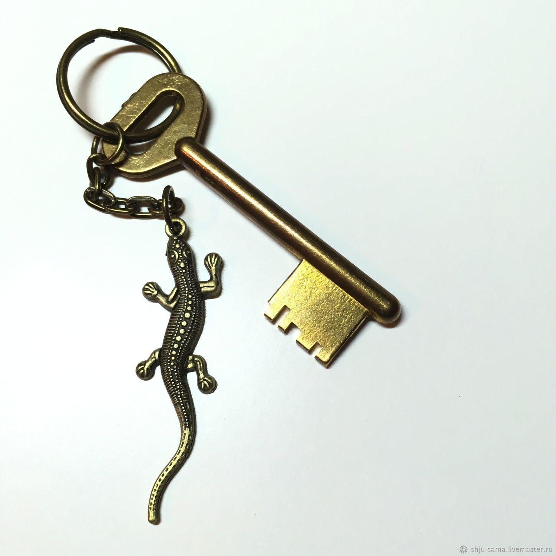 Брелок для ключей Ящерица, брелок для сумки