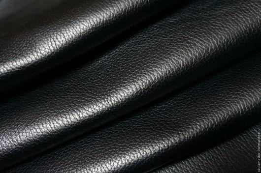Шитье ручной работы. Ярмарка Мастеров - ручная работа. Купить Натуральная кожа. Флотер черный 1,2 - 1,4. Handmade.