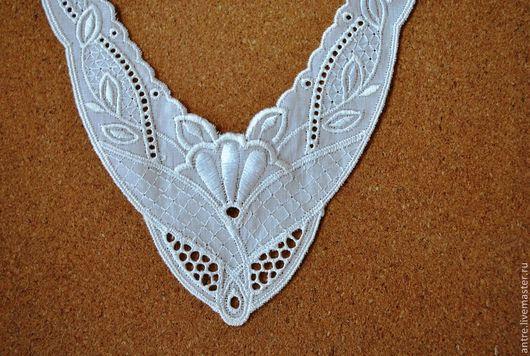 """Шитье ручной работы. Ярмарка Мастеров - ручная работа. Купить Воротничок """"Цветок"""" (вышивка на батисте) Италия. Handmade. Белый"""