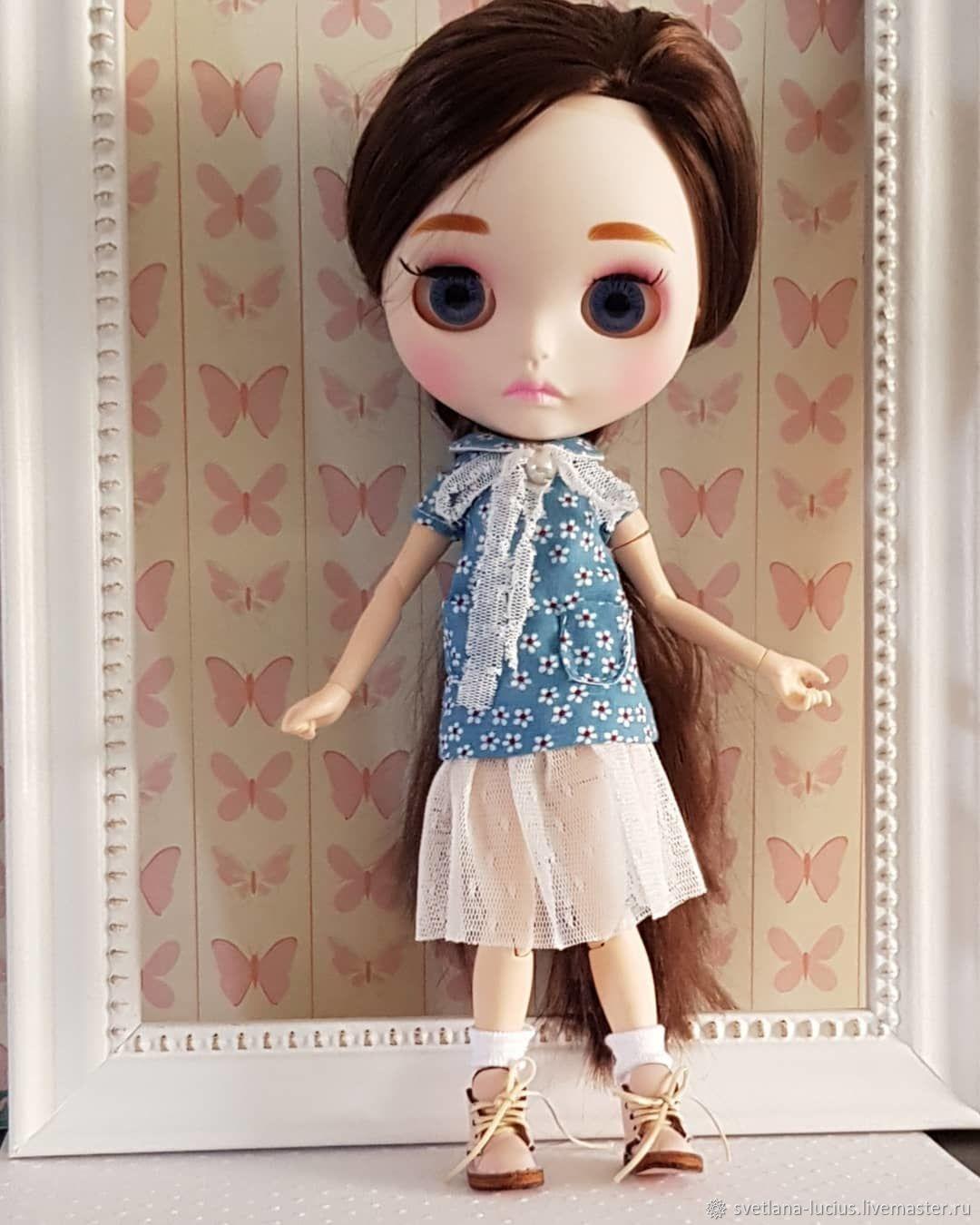 Платье для Блайз платье голубое с белым подъюбником для Блайз, Одежда для кукол, Перпиньян,  Фото №1