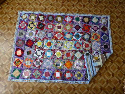 Текстиль, ковры ручной работы. Ярмарка Мастеров - ручная работа. Купить Лоскутное одеяло. Handmade. Голубой, лоскутное шитье