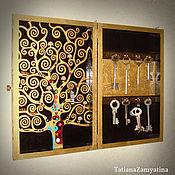 """Для дома и интерьера ручной работы. Ярмарка Мастеров - ручная работа Ключница """"Древо жизни"""" в золоте. Handmade."""