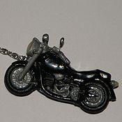 Аксессуары ручной работы. Ярмарка Мастеров - ручная работа Брелок на ключи Мотоцикл. Handmade.